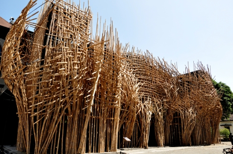 Joko Dwi Avianto's bamboo installation commissioned for ART/JOG/12