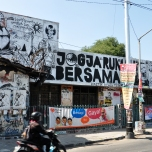 Jogja rumah bersama, translates as Jogja a place (house) for everyone