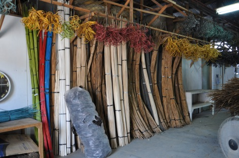 Rattan processed and ready to weave